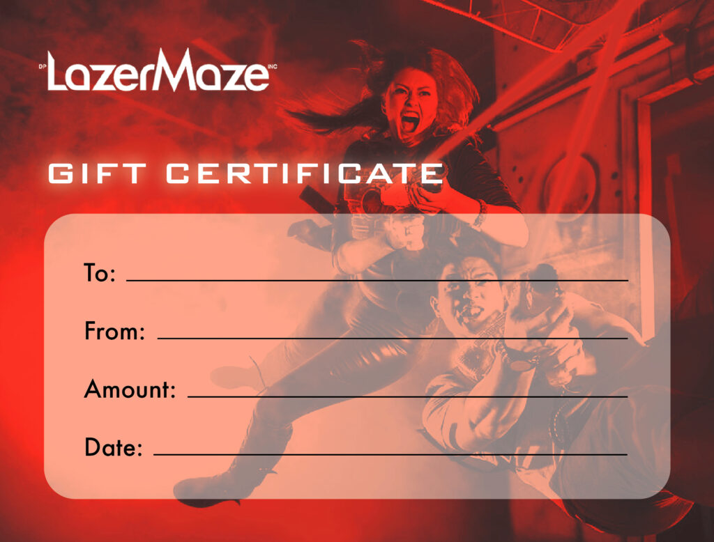 Laser Tag Gift Certificate