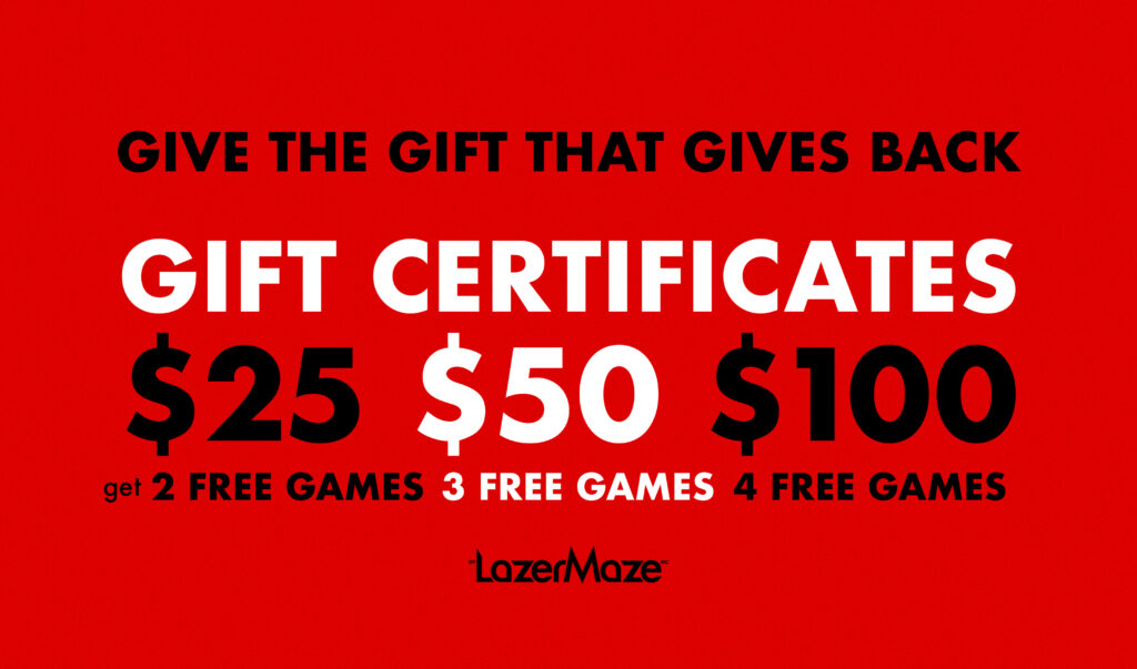 Gift Certificate Laser Tag